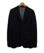 ()の古着「ウール3Bジャケット」|ネイビー