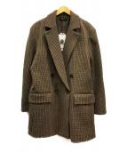 ()の古着「マルチファブリックダブルオーバージャケット」|ブラウン