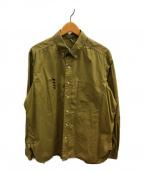 MOUNTAIN RESEARCH(マウンテンリサーチ)の古着「ボタンダウンシャツ」 ベージュ