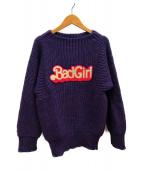 ()の古着「BRITISH WOOL/BAD GIRLワッペンプルオーバ」|パープル