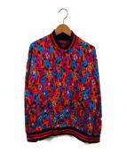 Hysteric Glamour(ヒステリックグラマー)の古着「BEARS TALK柄ジャガードジャンパー」|ブルー×ピンク