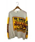 Hysteric Glamour(ヒステリックグラマー)の古着「DIZZY&MILKY Tシャツ」|ホワイト