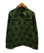 WACKO MARIA(ワコマリア)の古着「スターアーミーシャツジャケット」|オリーブ