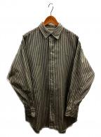 LOEFF(ロエフ)の古着「ストライプBDシャツ」 グレー×アイボリー