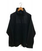 ()の古着「シェルジップティー」|ブラック