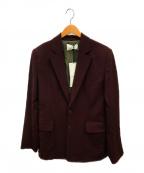 G.V.G.V(ジーヴィージーヴィー)の古着「シングルブレステッドジャケット」|バーガンディー