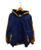 ()の古着「カスタムパターンダックフードジャケット」|ベージュ×ブルー