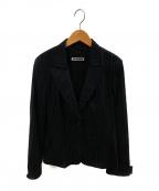 JIL SANDER(ジルサンダー)の古着「ウール2Bストライプジャケット」|ブラック