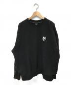 OY(オーワイ)の古着「ショルダージップスウェット」|ブラック