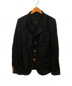 COMME des GARCONS HOMME DEUX(コムデギャルソン オム ドゥ)の古着「ポリ縮絨4ポケットテーラードジャケット」|ブラック