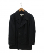 COMME des GARCONS SHIRT(コムデギャルソンシャツ)の古着「メルトンダブルコート」|ブラック