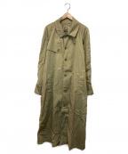 BANANA REPUBLIC(バナナリパブリック)の古着「80'Sヴィンテージナイロントレンチコート」 ベージュ