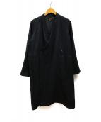 ()の古着「コットンウール作務衣コート」|ブラック