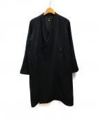 Needles()の古着「コットンウール作務衣コート」|ブラック