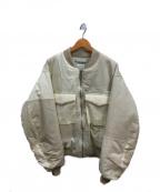 KURO(クロ)の古着「ミリタリーパッチワークボンバージャケット」|アイボリー