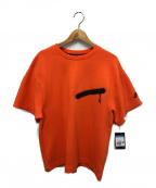 NIKE()の古着「テックフリースバックプリントTシャツ」 オレンジ