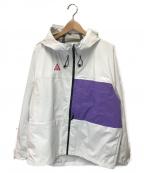 NIKE ACG()の古着「ナイロンフーテッドジャケット」 ホワイト