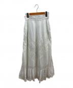 sara mallika(サラマリカ)の古着「ガーゼレーススカート」|ホワイト