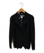ISSEY MIYAKE WHITE LABEL(イッセイミヤケホワイトレーベル)の古着「メッシュポルカドットプリーツジャケット」 ブラック
