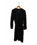 ()の古着「リネンキャンバスコート」|ブラック