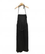BASERANGE(ベースレンジ)の古着「ラップスカート」|ブラック