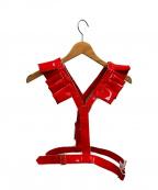 COMME des GARCONS GIRL(コムデギャルソン ガール)の古着「フリルハーネス」|レッド