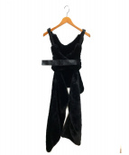 Comme des Garcons noir kei ninomiya(コム・デ・ギャルソン ノワール ケイ ニノミヤ)の古着「フェイクファーハーネス」|ブラック