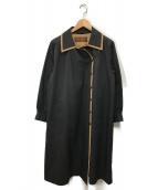 Yves Saint Laurent(イヴサンローラン)の古着「ステンカラーコート」|ブラック