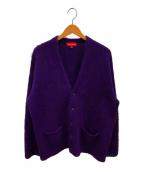 ()の古着「ブラッシュドモヘアカーディガン」|パープル