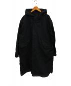 ()の古着「ユニセックスフーデットコート」|ブラック