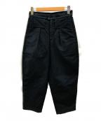 TUKI(ツキ)の古着「モールスキンテーパードパンツ」 ブラック