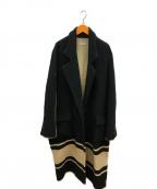 BED J.W. FORD(ベッドフォード)の古着「スパンコールロングコート」|ブラック
