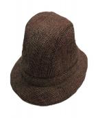 PRADA(プラダ)の古着「ツイードハット」|ブラウン