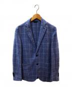 L.B.M.1911(ルビアム1911)の古着「コットンリネン ウィンドペン 製品洗い2Bジャケット」|スカイブルー