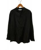 ()の古着「カラクサビッグワネックシャツ」 ブラック