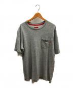 SUPREME()の古着「ポケットTシャツ」|グレー