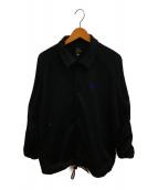 ()の古着「サイドラインコーチジャケット」 ブラック×パープル