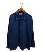 ()の古着「サイドベンツシャツ」 ブルー