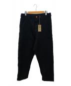 COMME des GARCONS HommePlus(コムデギャルソンオムプリュス)の古着「製品染めポリワイドパンツ」|ブラック