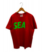 WIND AND SEA × MADNESS(ウィンダンシー×マッドネス)の古着「プリントTシャツ」|レッド