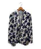 LOVELESS(ラブレス)の古着「サマーフラワー シャツジャケット」|ホワイト×ネイビー