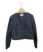 49AV junko shimada(ジュンコシマダ)の古着「ノーカラージャケット」|ネイビー