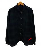 PHINGERIN(フィンガリン)の古着「ワッフルナイトシャツ」|グリーン×ネイビー