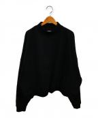 WILLY CHAVARRIA(ウィリーチャバリア)の古着「バッファローカンガルーモックネックスウェット」 ブラック