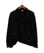 WILLY CHAVARRIA(ウィリーチャバリア)の古着「シルバーレイクラペルデニムジャケット」 ブラック
