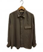 CULLNI(クルニ)の古着「スロートラッチシャツ」 ベージュ