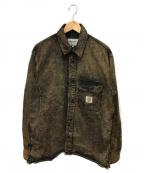 CarHartt()の古着「11.5ozデニムシャツ」 ブラウン