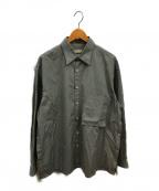 YOKE(ヨーク)の古着「オーバーサイズストライプシャツ」 グレー