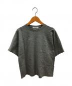 ebure(エブール)の古着「スーピマコットンクルーネックTシャツ」 グレー
