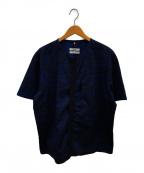 OAMC(オーエーエムシー)の古着「ノーカラーシャツ」|ブルー